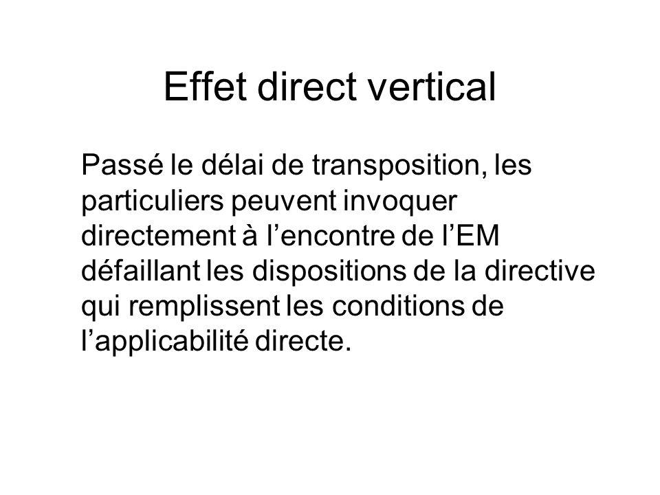 Effet direct vertical