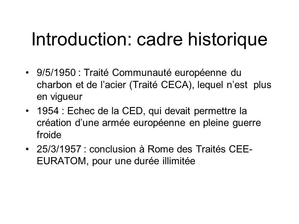 Introduction: cadre historique