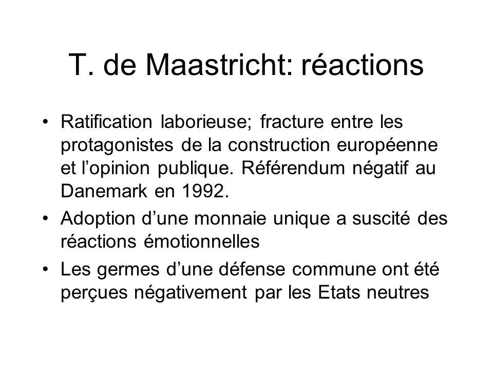 T. de Maastricht: réactions
