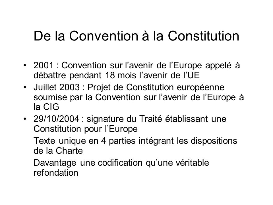 De la Convention à la Constitution