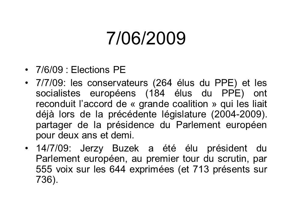 7/06/2009 7/6/09 : Elections PE.