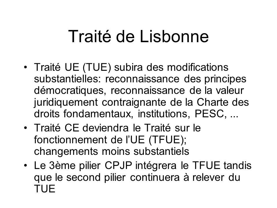 Traité de Lisbonne
