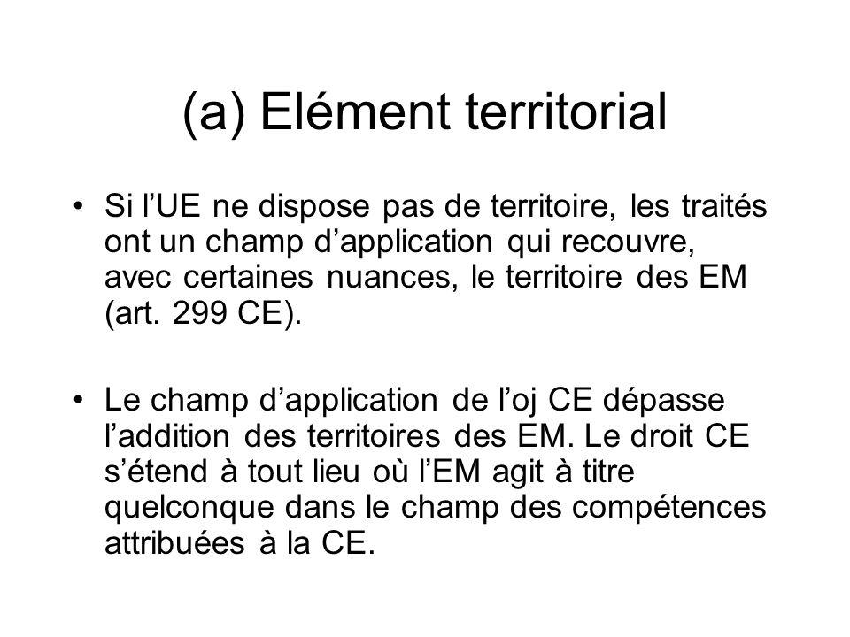 (a) Elément territorial