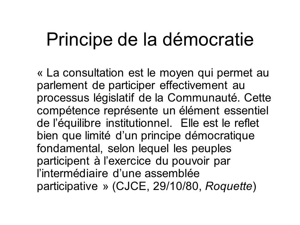 Principe de la démocratie