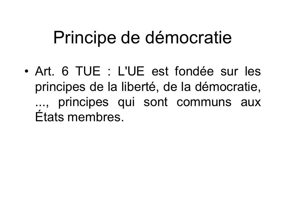 Principe de démocratie
