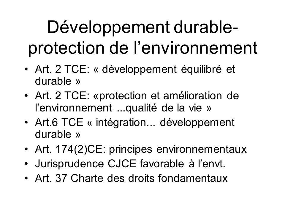 Développement durable-protection de l'environnement