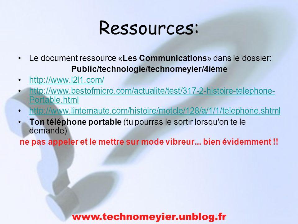 Ressources: www.technomeyier.unblog.fr