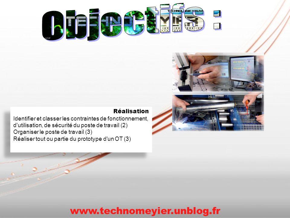 Objectifs : www.technomeyier.unblog.fr Réalisation