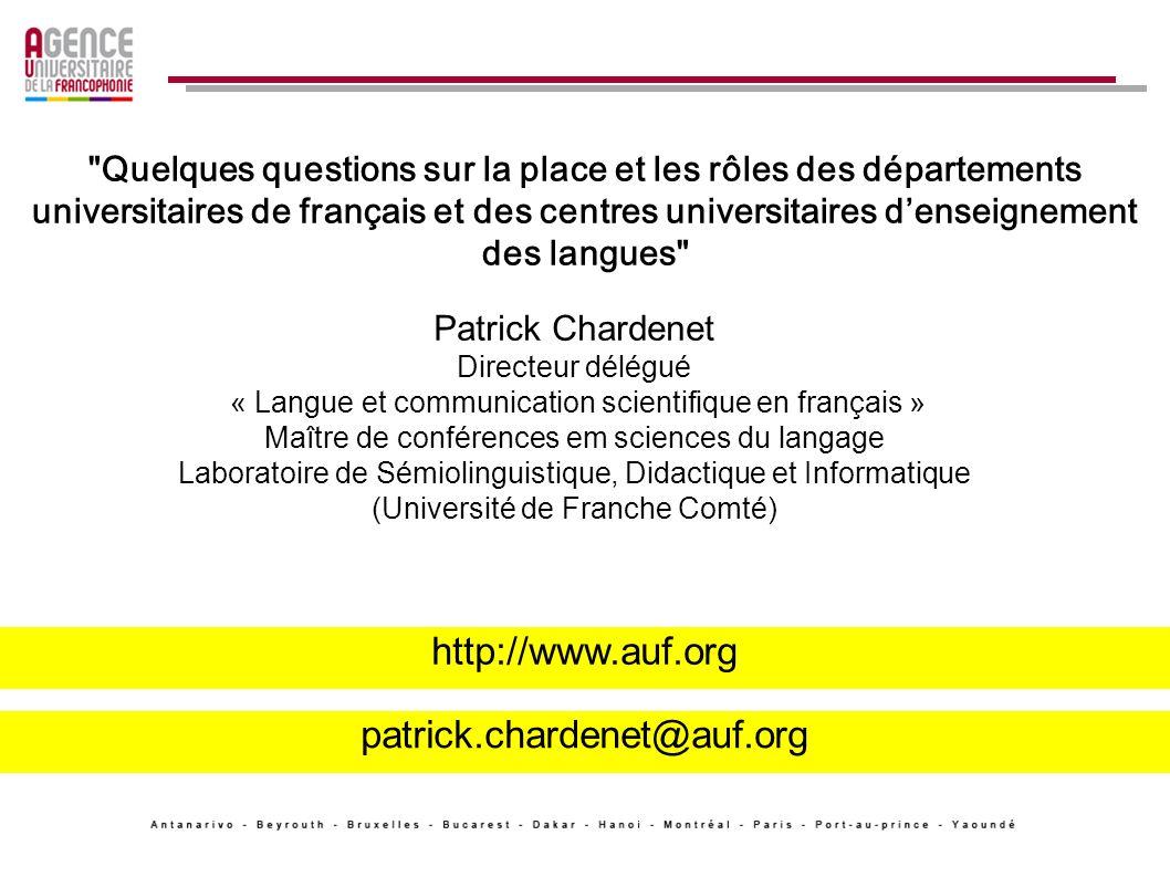 http://www.auf.org patrick.chardenet@auf.org