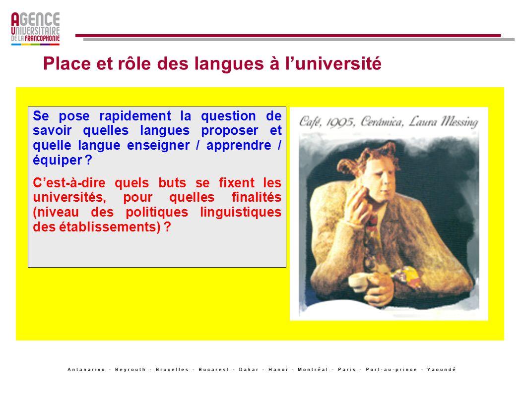 Place et rôle des langues à l'université