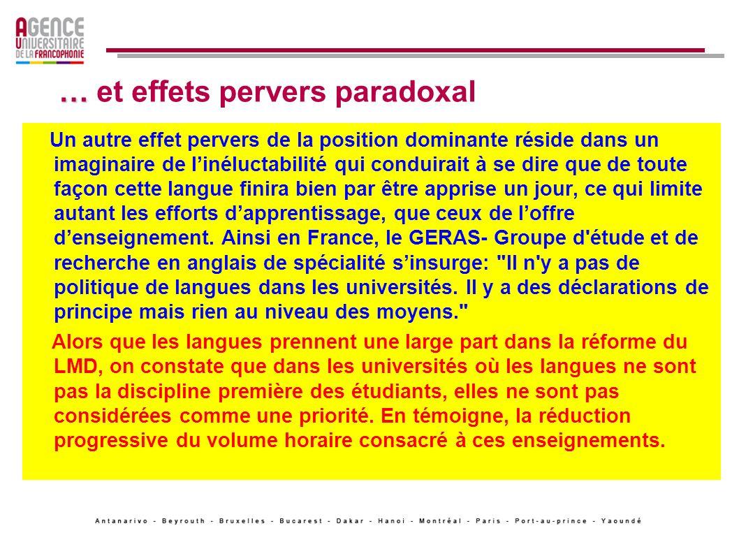 … et effets pervers paradoxal