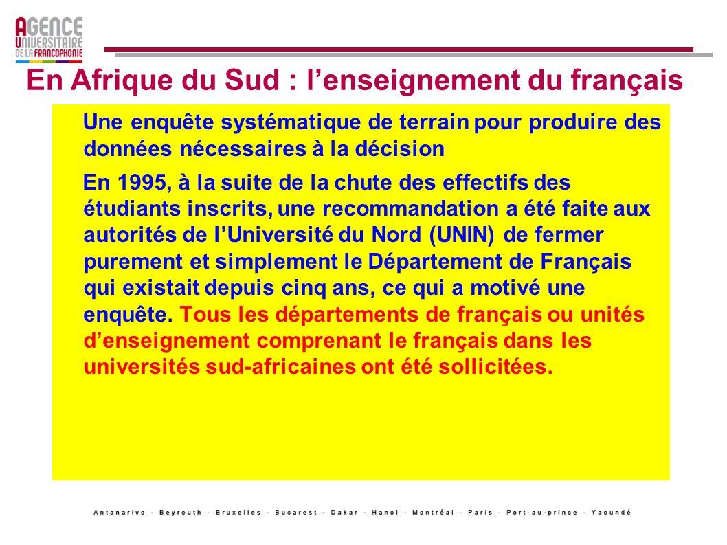 En Afrique du Sud : l'enseignement du français
