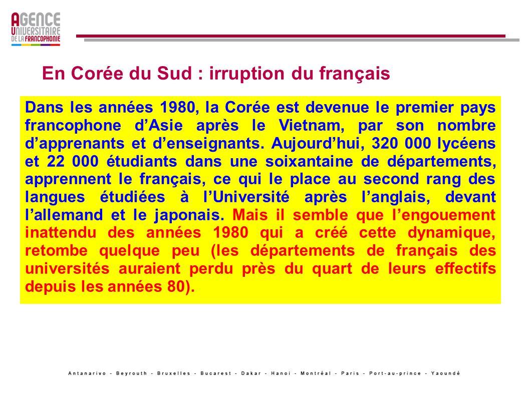 En Corée du Sud : irruption du français
