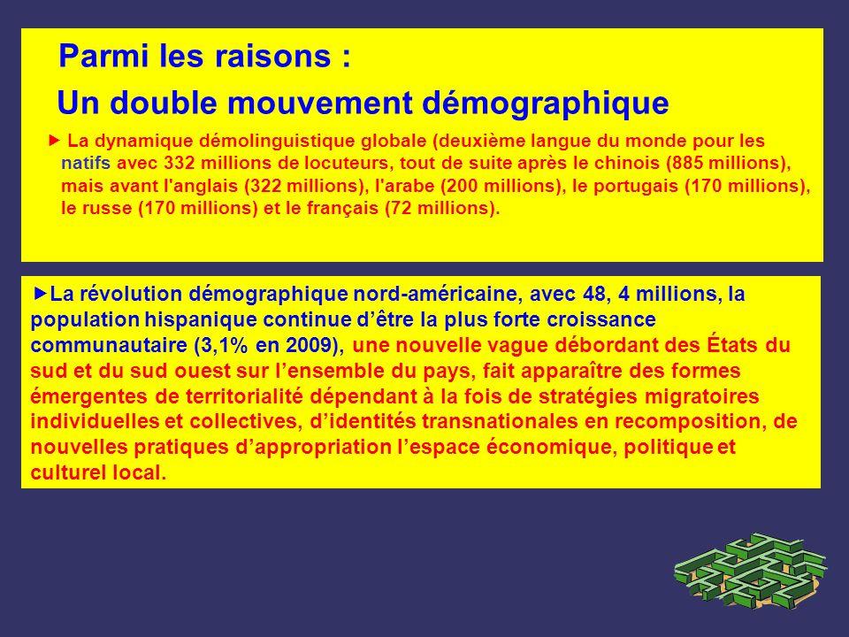 Parmi les raisons : Un double mouvement démographique