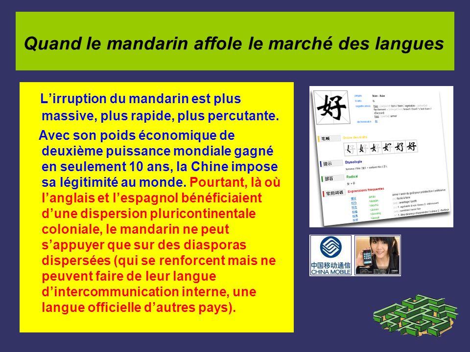 Quand le mandarin affole le marché des langues