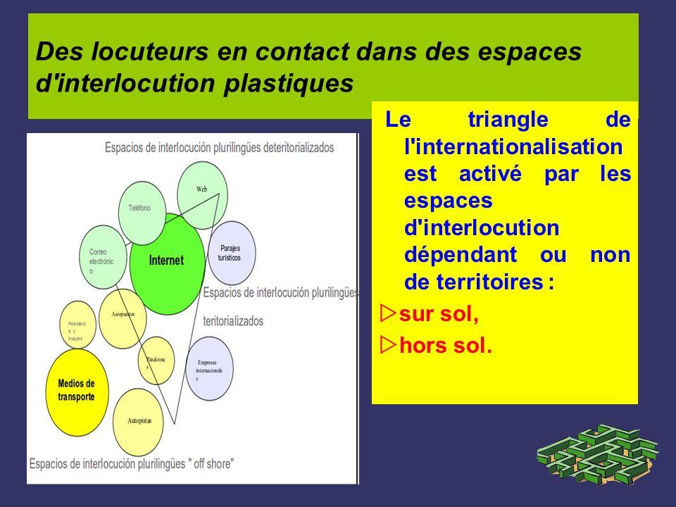 Des locuteurs en contact dans des espaces d interlocution plastiques