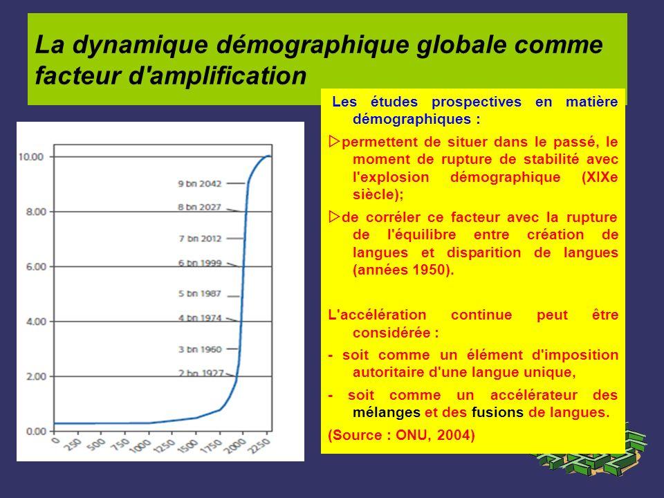 La dynamique démographique globale comme facteur d amplification