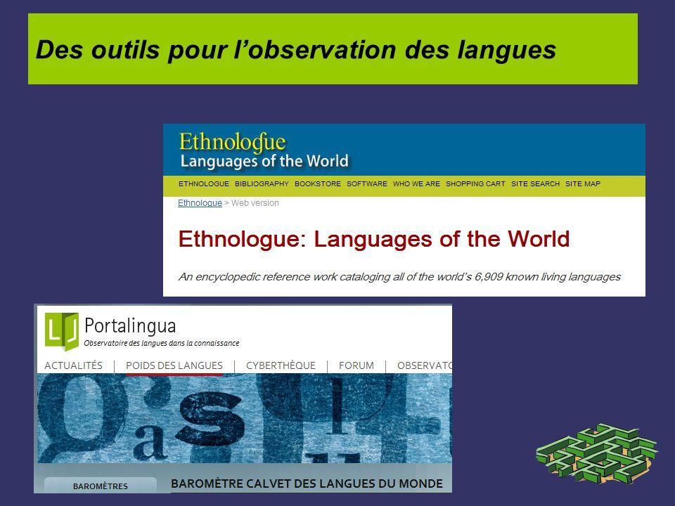 Des outils pour l'observation des langues