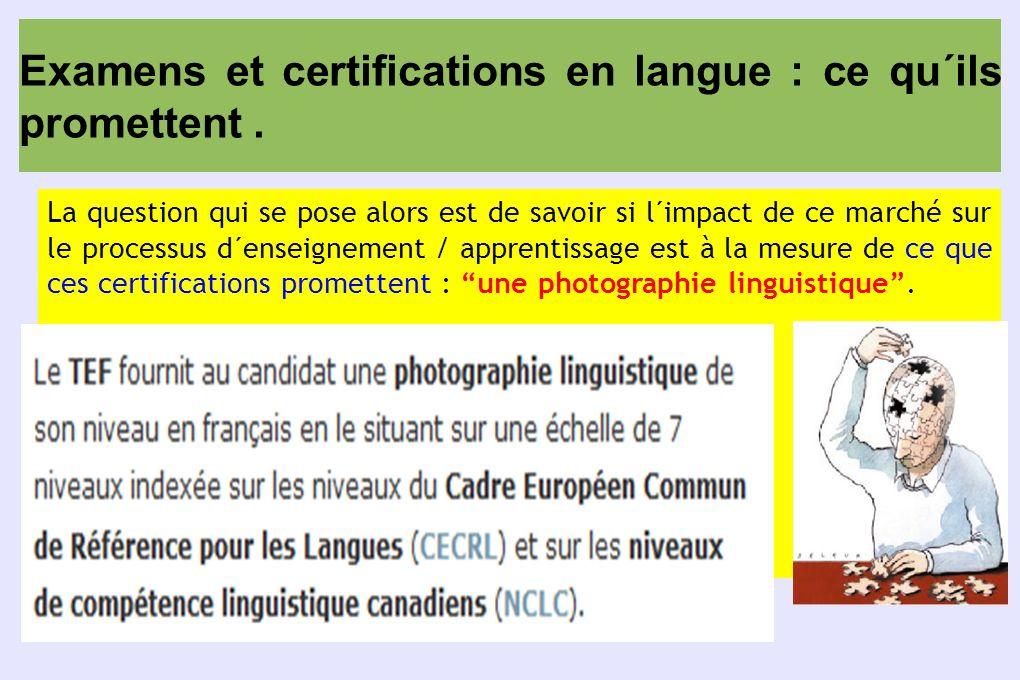 Examens et certifications en langue : ce qu´ils promettent .