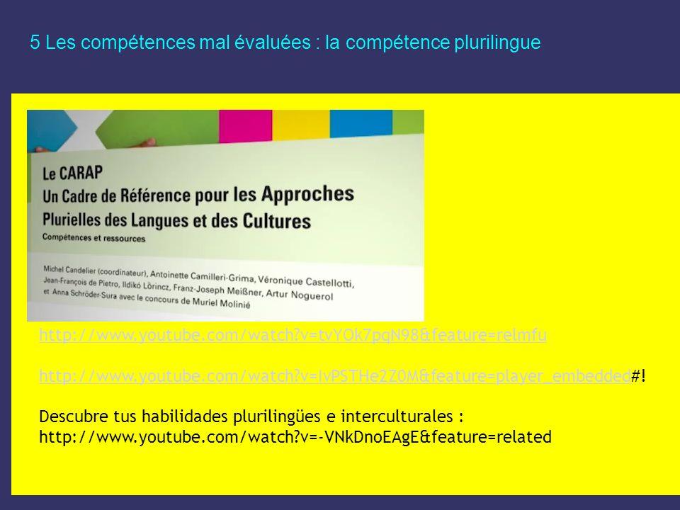 5 Les compétences mal évaluées : la compétence plurilingue