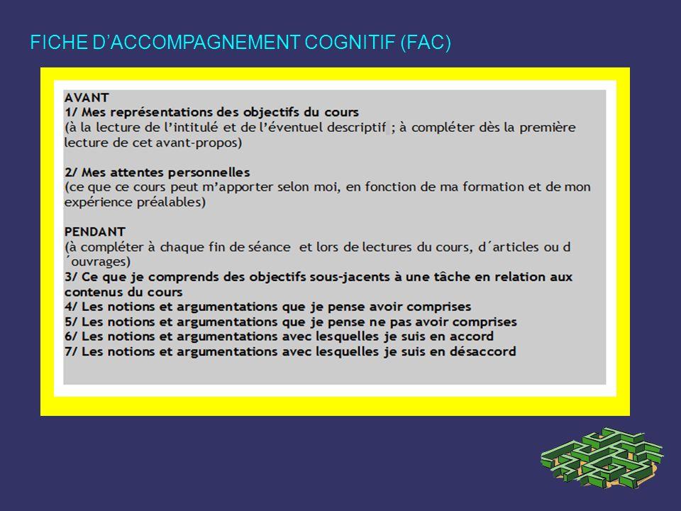 FICHE D'ACCOMPAGNEMENT COGNITIF (FAC)