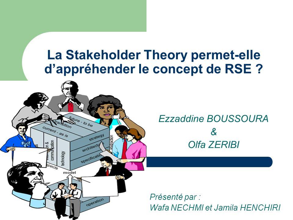 La Stakeholder Theory permet-elle d'appréhender le concept de RSE