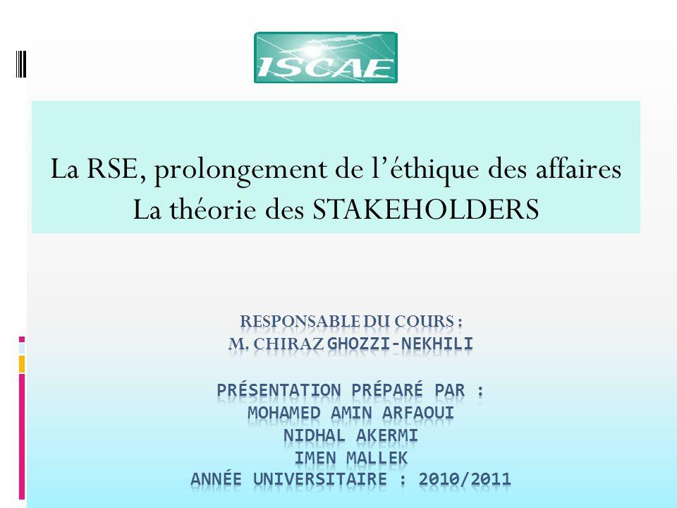 La RSE, prolongement de l'éthique des affaires