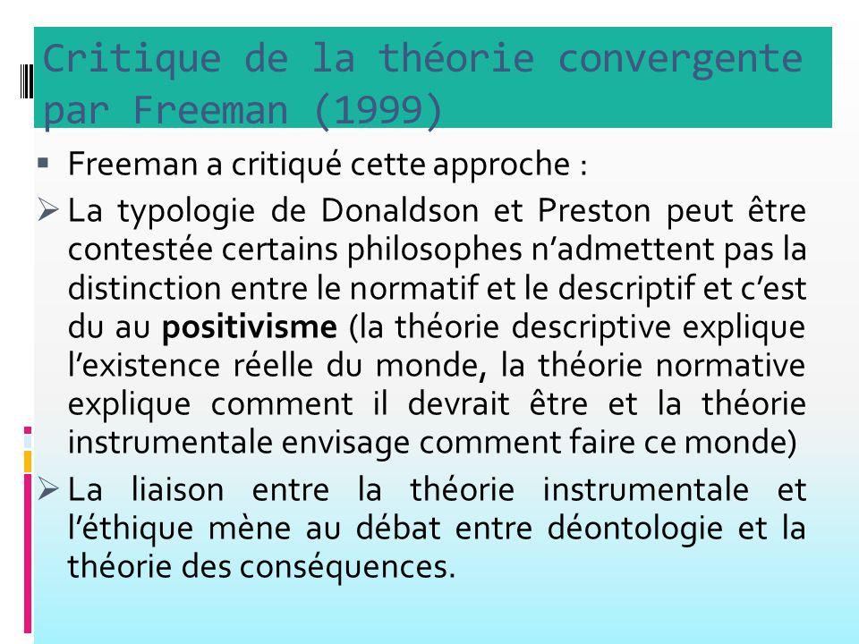 Critique de la théorie convergente par Freeman (1999)