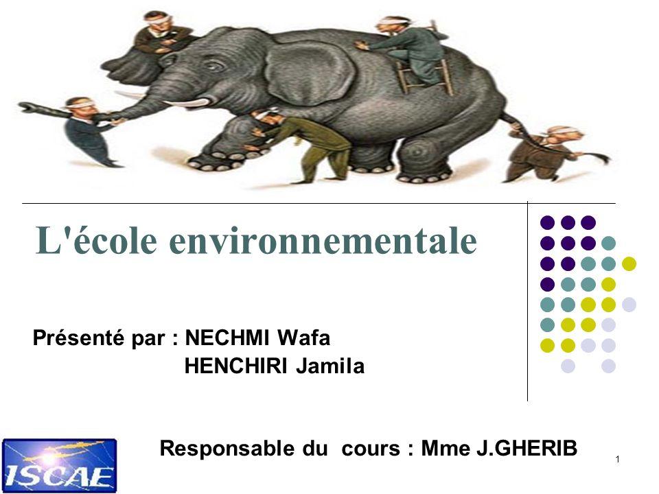 L école environnementale