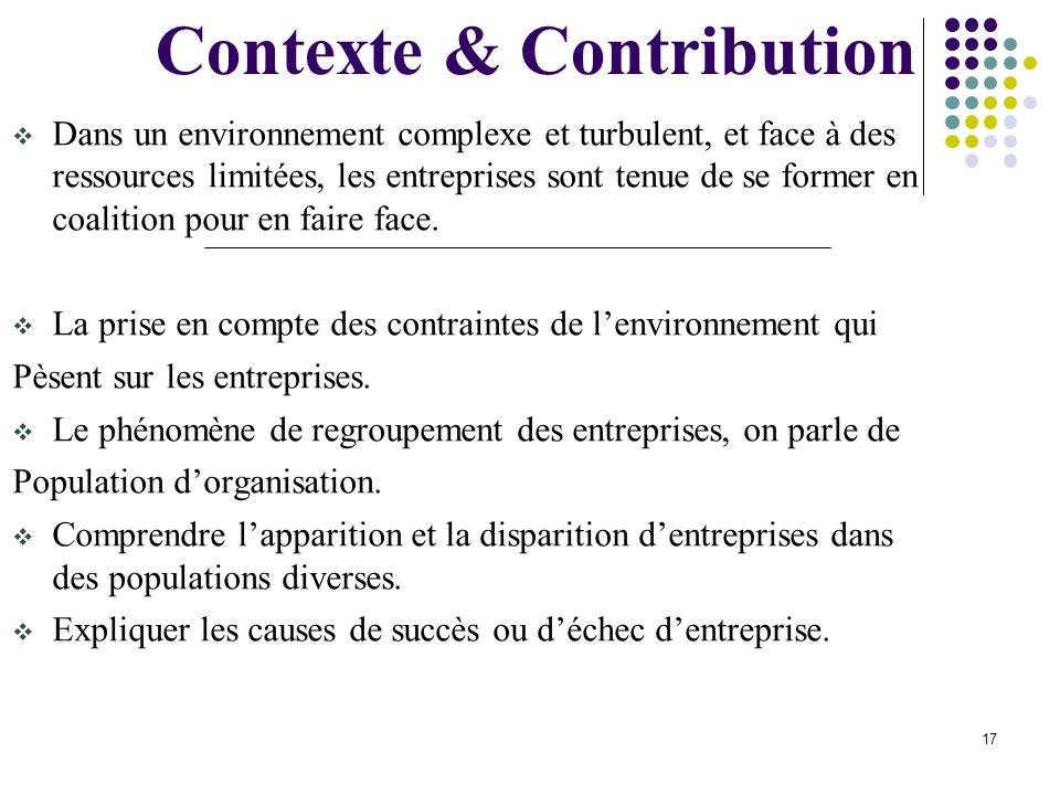 Contexte & Contribution