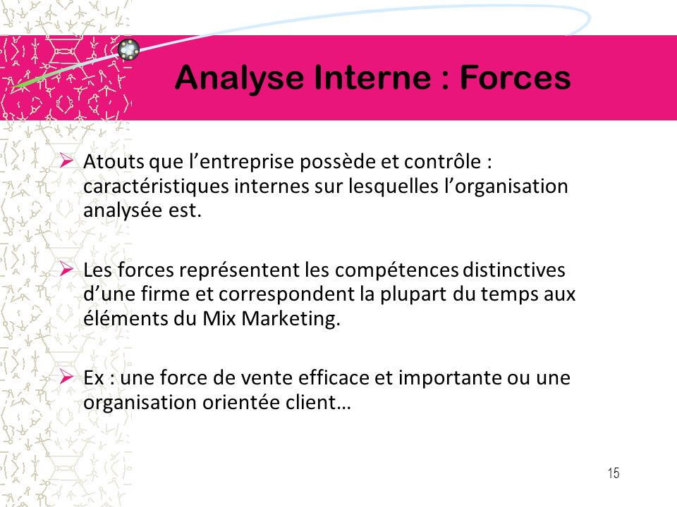Analyse Interne : Forces