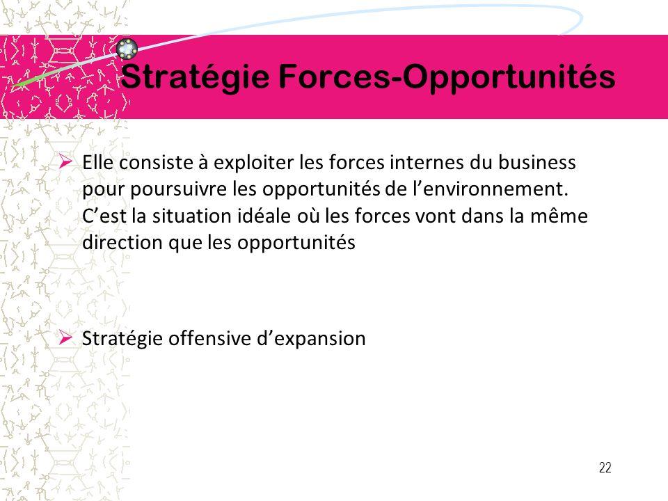 Stratégie Forces-Opportunités
