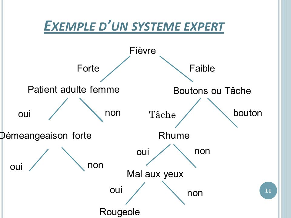 Exemple d'un systeme expert