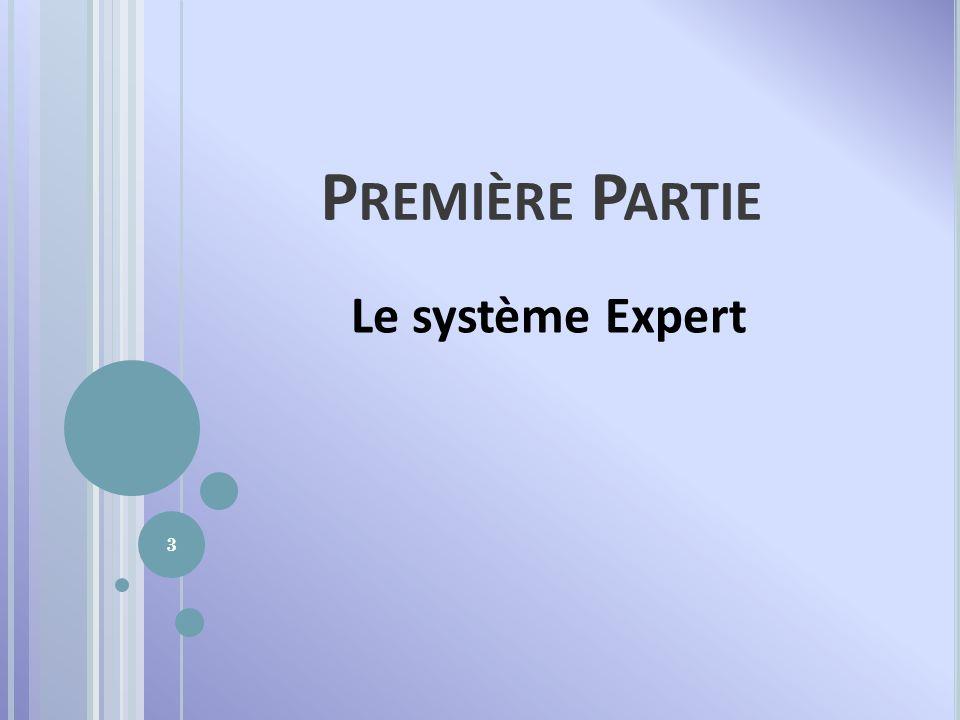 Première Partie Le système Expert