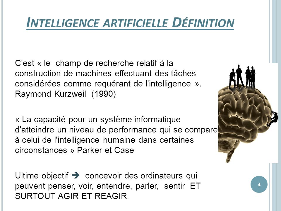 Intelligence artificielle Définition