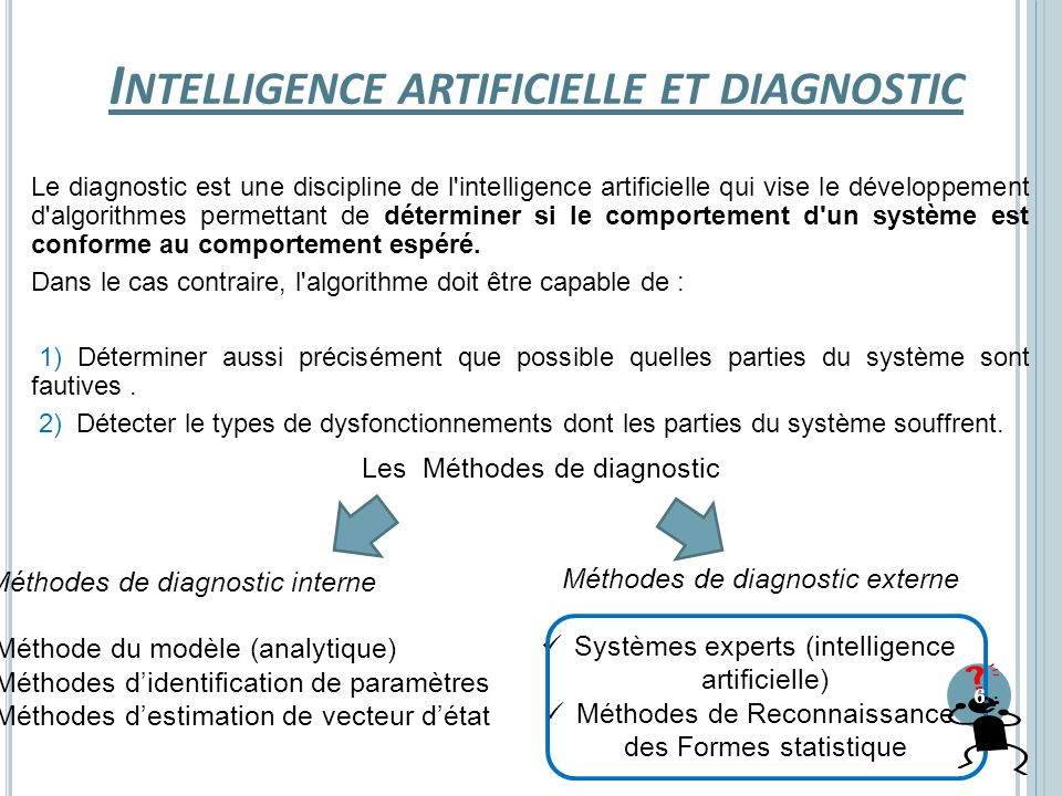 Intelligence artificielle et diagnostic