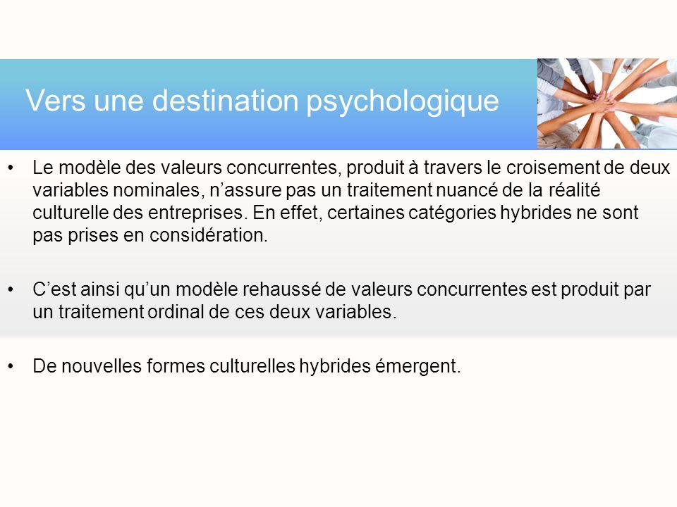Vers une destination psychologique