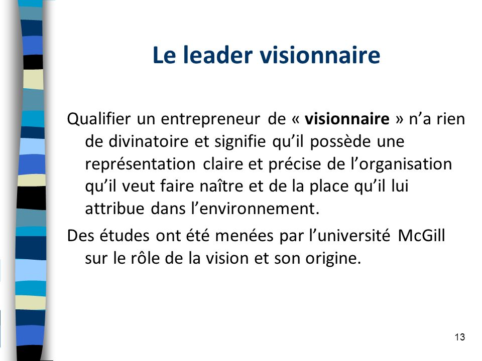 Le leader visionnaire