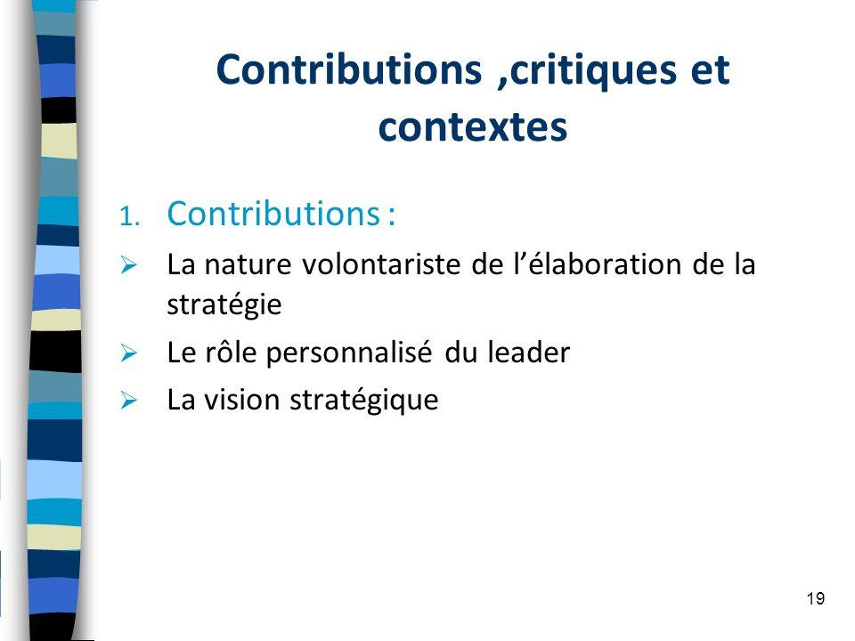 Contributions ,critiques et contextes
