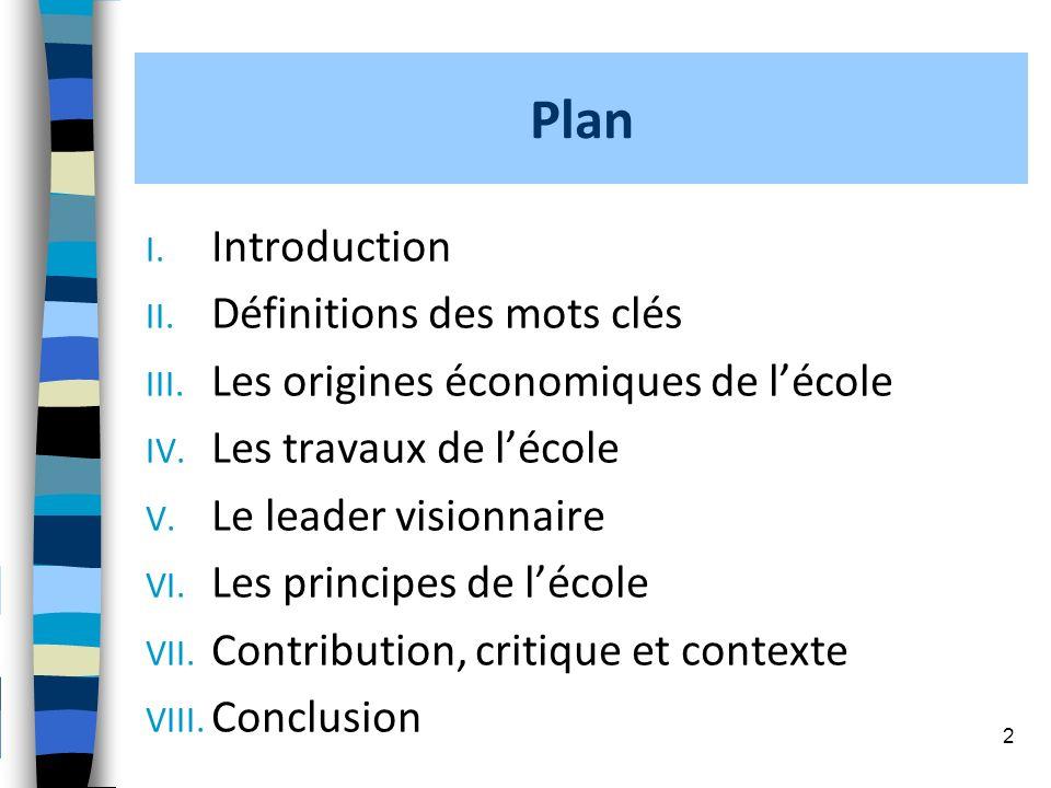 Plan Introduction Définitions des mots clés