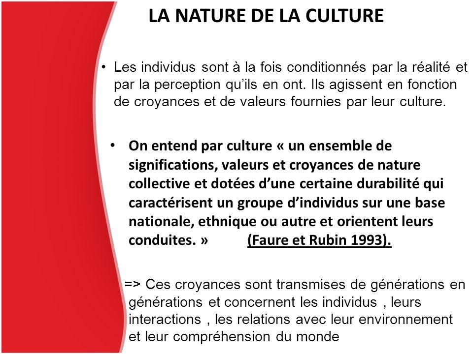 LA NATURE DE LA CULTURE