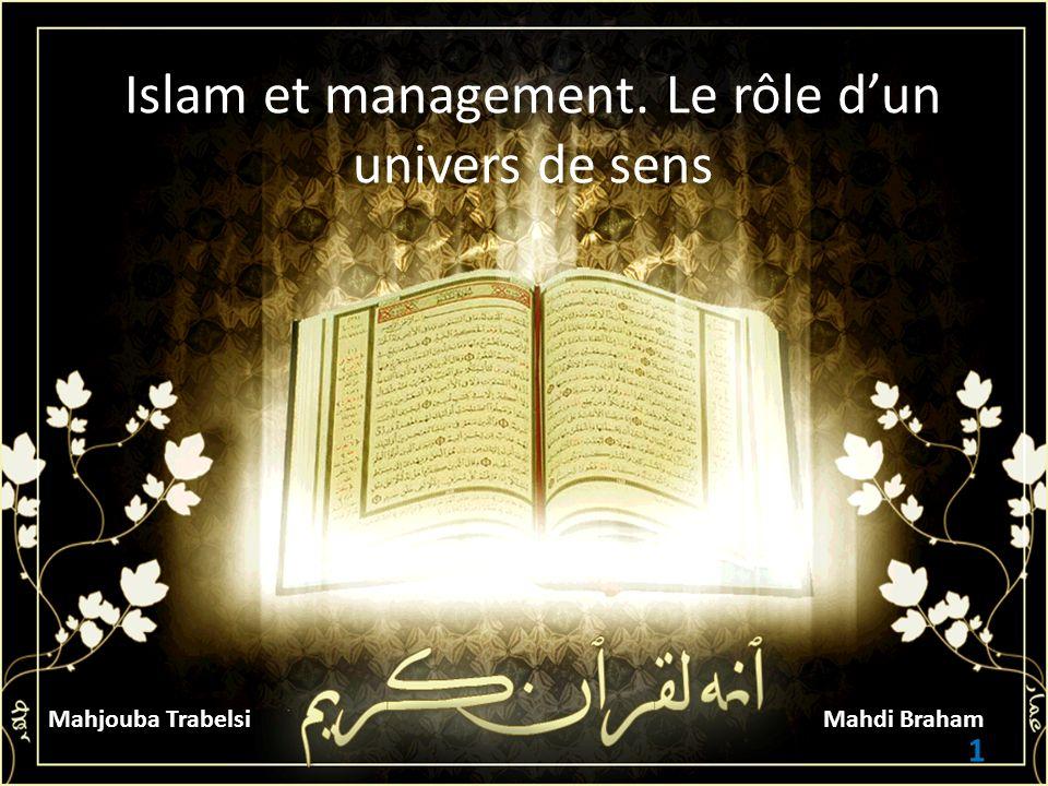 Islam et management. Le rôle d'un univers de sens