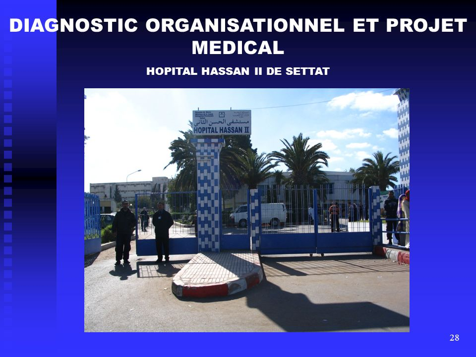 DIAGNOSTIC ORGANISATIONNEL ET PROJET MEDICAL