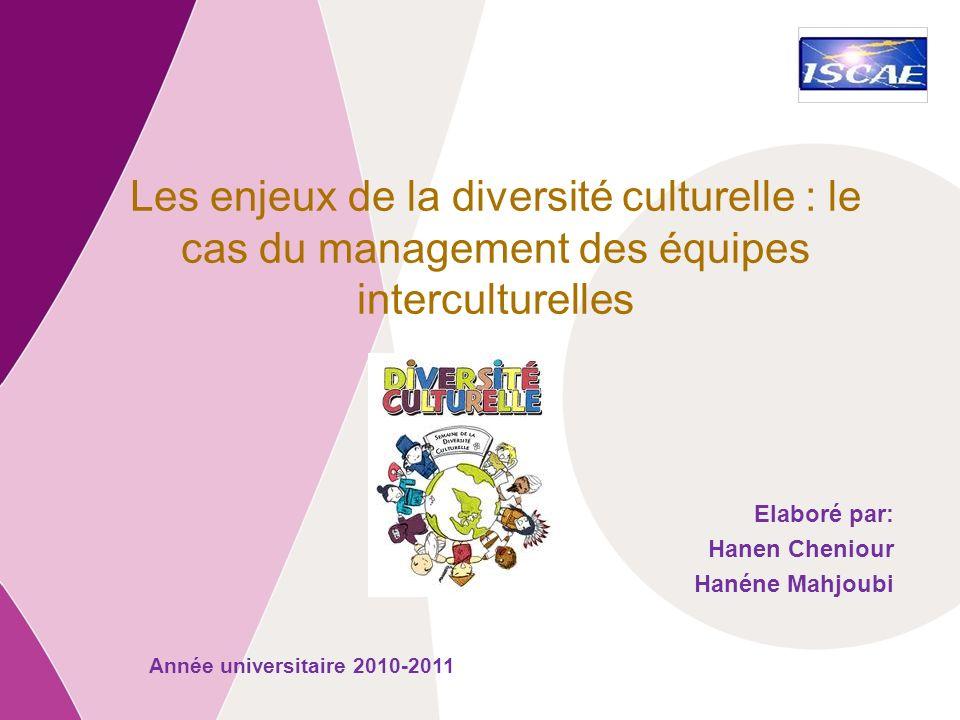 Les enjeux de la diversité culturelle : le cas du management des équipes interculturelles