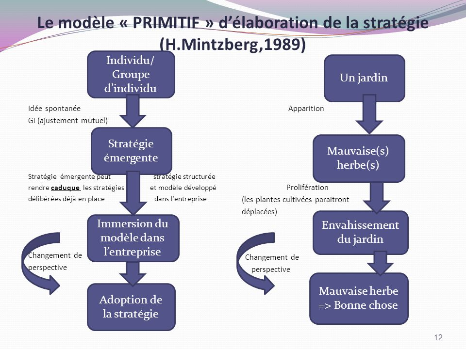 Le modèle « PRIMITIF » d'élaboration de la stratégie (H