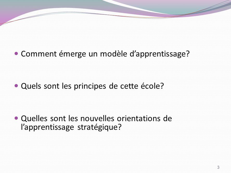 Comment émerge un modèle d'apprentissage