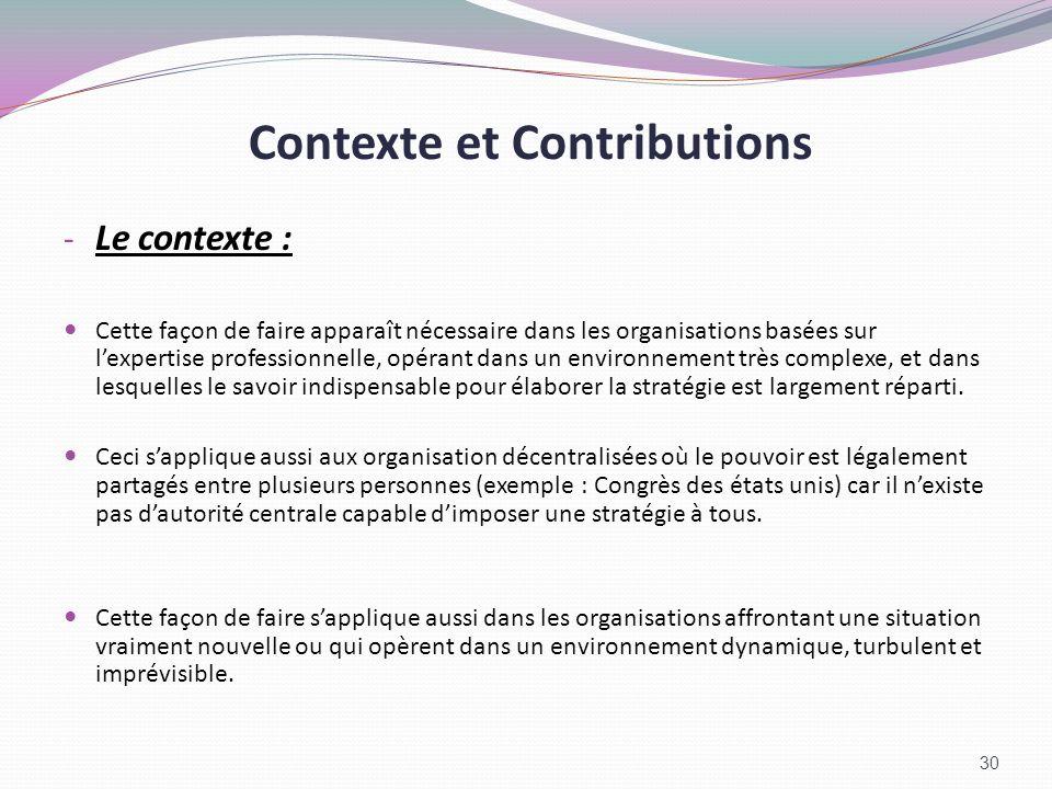 Contexte et Contributions