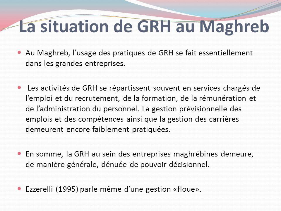 La situation de GRH au Maghreb
