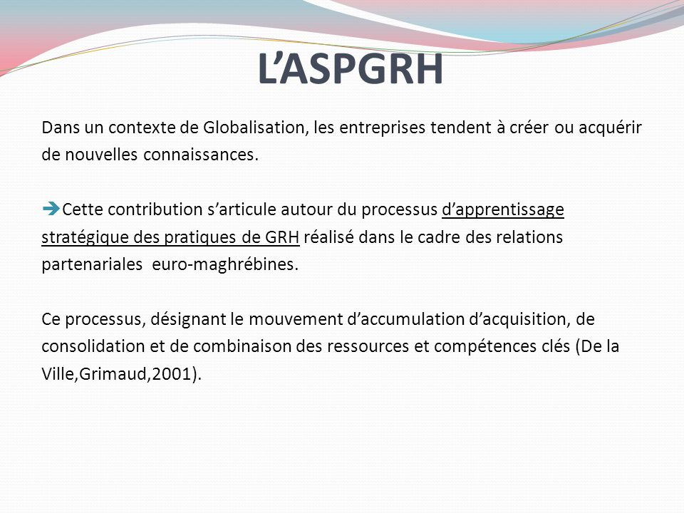 L'ASPGRH