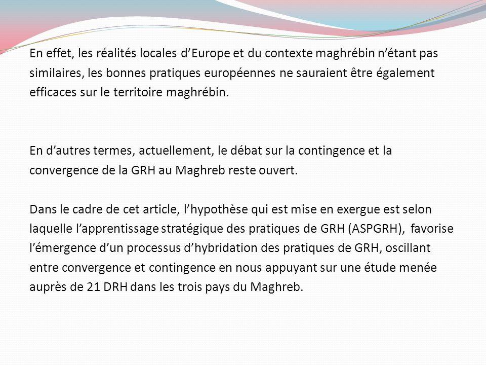En effet, les réalités locales d'Europe et du contexte maghrébin n'étant pas similaires, les bonnes pratiques européennes ne sauraient être également efficaces sur le territoire maghrébin.